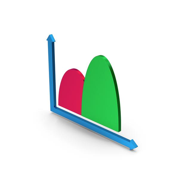 Bar: Symbol Curve Graph Chart Metallic PNG & PSD Images