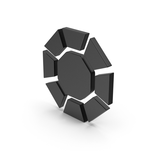 Logo: Symbol Diamond / Octagon Black PNG & PSD Images
