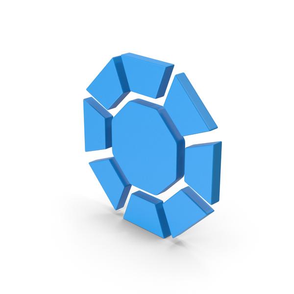 Logo: Symbol Diamond / Octagon Blue PNG & PSD Images