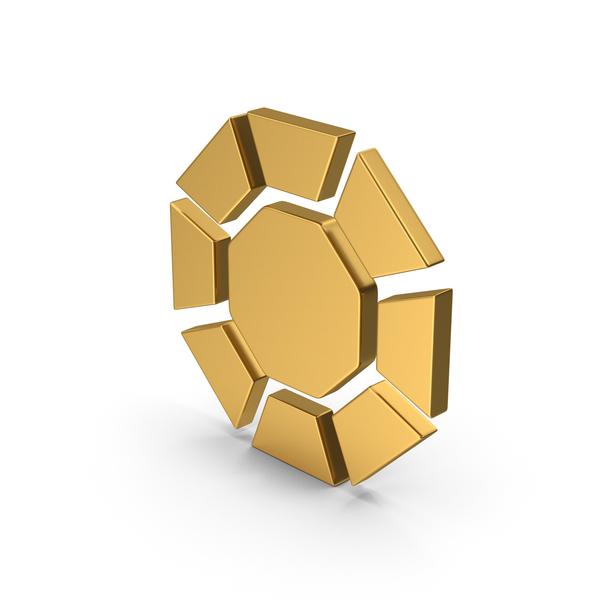 Logo: Symbol Diamond / Octagon Gold PNG & PSD Images