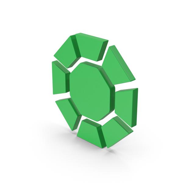 Logo: Symbol Diamond / Octagon Green PNG & PSD Images