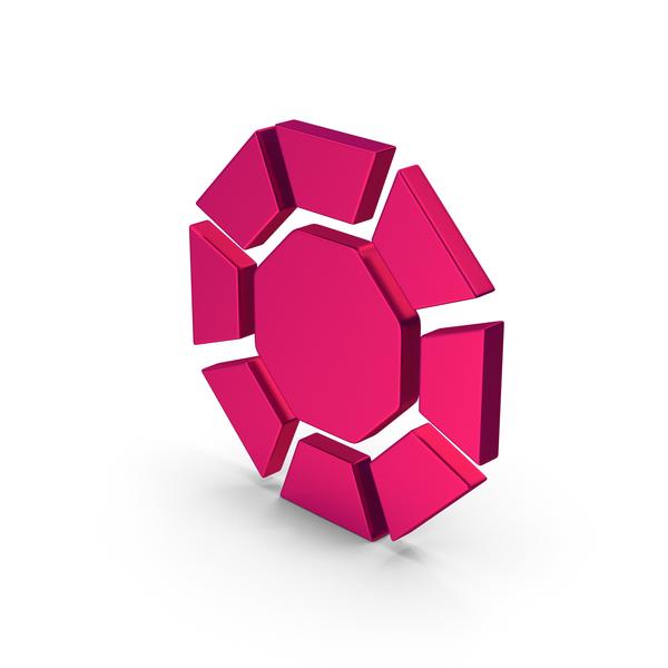 Logo: Symbol Diamond / Octagon Metallic PNG & PSD Images