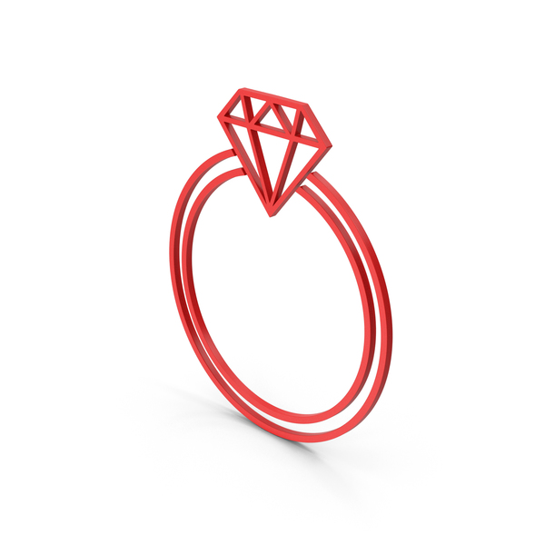 Symbol Diamond Ring Red PNG & PSD Images