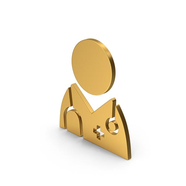 Bust: Symbol Doctor Gold PNG & PSD Images