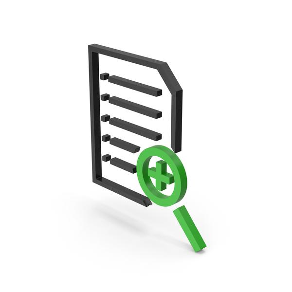 Holder: Symbol Document File Zoom Black Green PNG & PSD Images