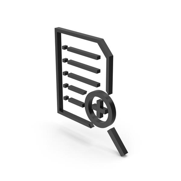 Holder: Symbol Document File Zoom Black PNG & PSD Images
