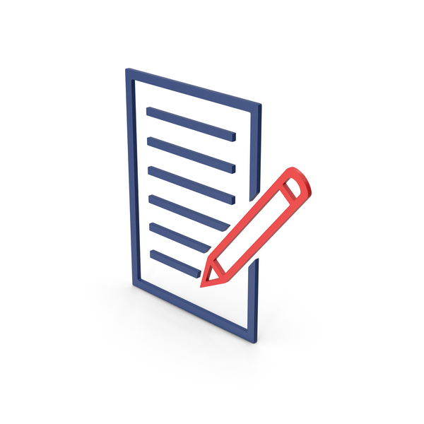Industrial Equipment: Symbol Document With Pen Colored PNG & PSD Images