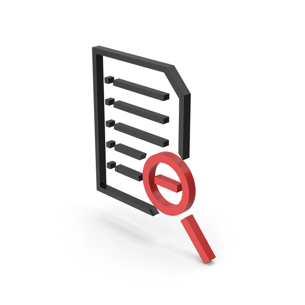 File Holder: Symbol Document Zoom Out PNG & PSD Images