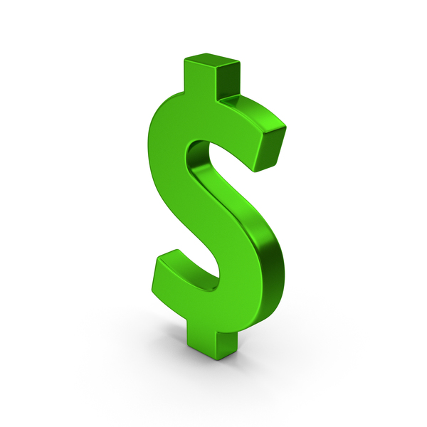Currency Symbols: Symbol Dollar Green Metallic PNG & PSD Images
