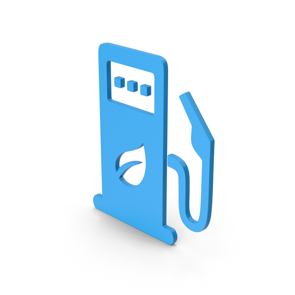Computer Icon: Symbol Eco Station Blue PNG & PSD Images
