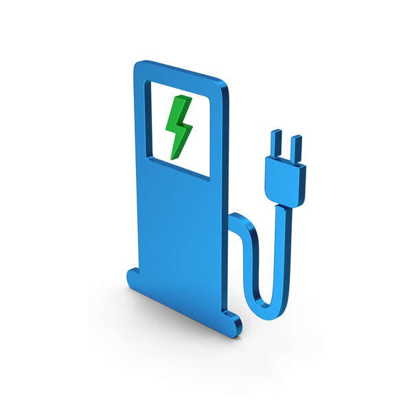 Logo: Symbol Electric Vehicle Charging Station Colored Metallic PNG & PSD Images