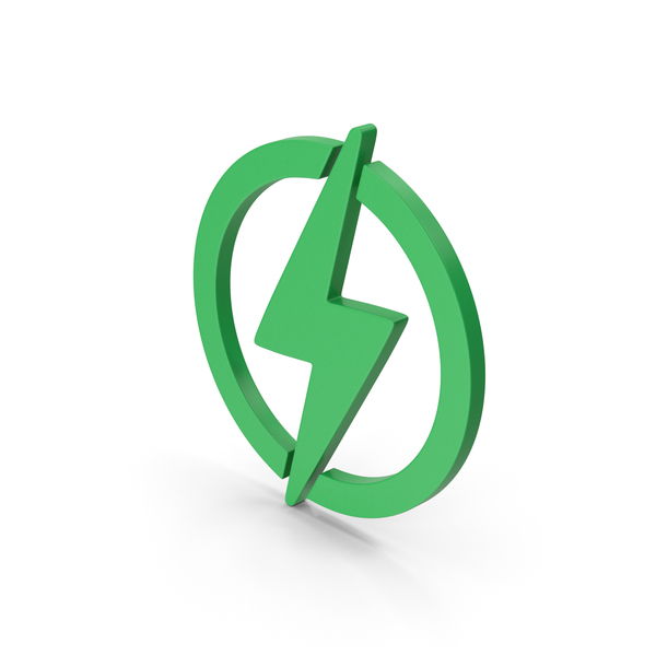 Computer Icon: Symbol Electricity Green PNG & PSD Images