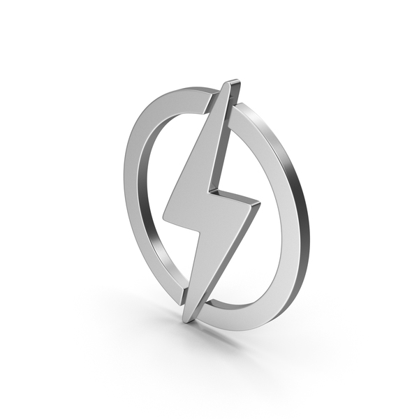 Computer Icon: Symbol Electricity Silver PNG & PSD Images