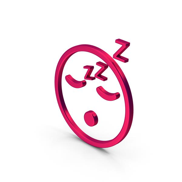 Computer Icon: Symbol Emoji Sleeping Metallic PNG & PSD Images