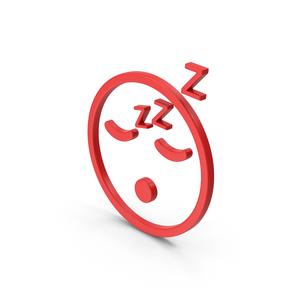 Computer Icon: Symbol Emoji Sleeping Red PNG & PSD Images