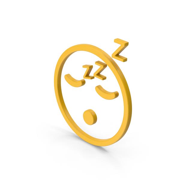 Computer Icon: Symbol Emoji Sleeping Yellow PNG & PSD Images
