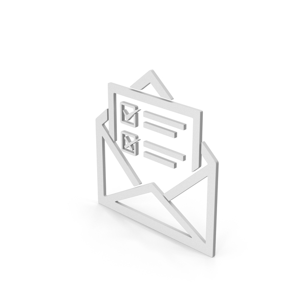Computer Icon: Symbol Envelope With Checklist PNG & PSD Images