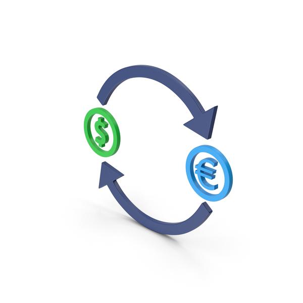 Symbols: Symbol Exchange Dollar With Euro PNG & PSD Images