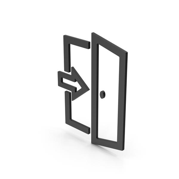 Sign: Symbol Exit Black PNG & PSD Images