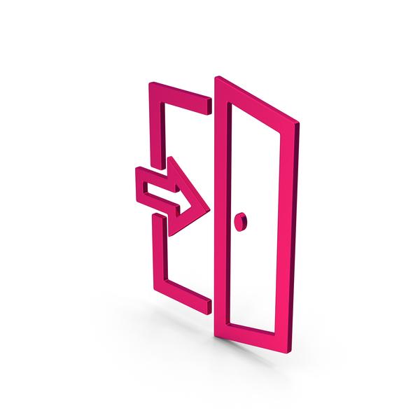 Sign: Symbol Exit Metallic PNG & PSD Images
