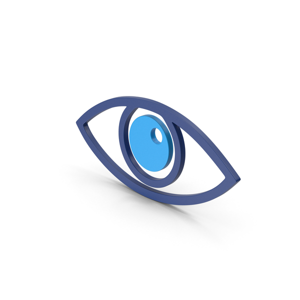 Computer Icon: Symbol Eye Blue PNG & PSD Images