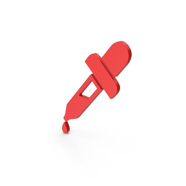 Symbol Eyedropper Red PNG & PSD Images
