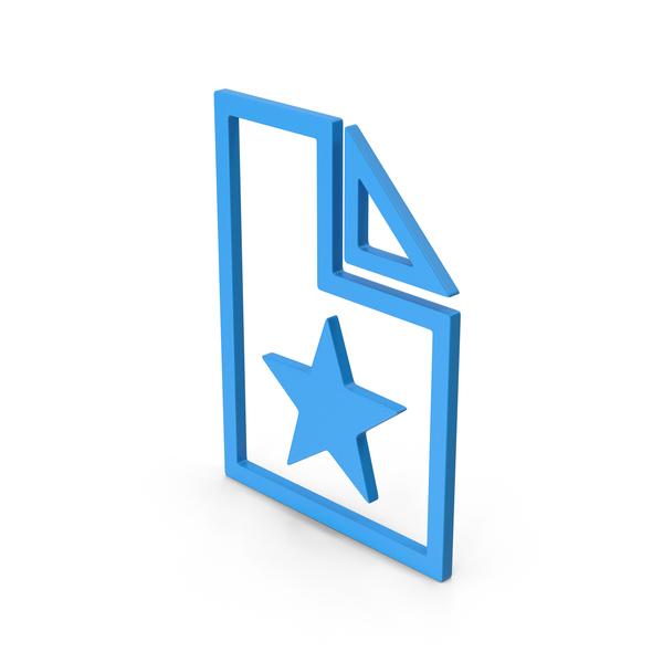 Computer Icon: Symbol Favorite File Blue PNG & PSD Images