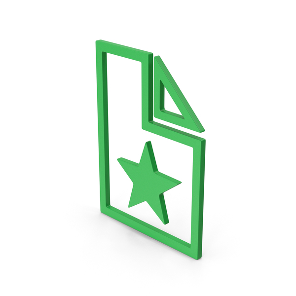 Computer Icon: Symbol Favorite File Green PNG & PSD Images