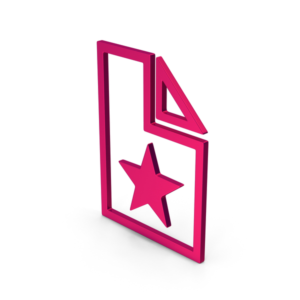 Computer Icon: Symbol Favorite File Metallic PNG & PSD Images