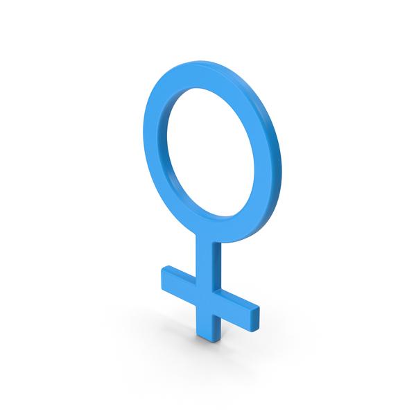 Symbol Female Blue PNG & PSD Images