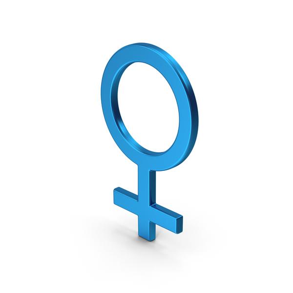 Symbol Female Blue Metallic PNG & PSD Images