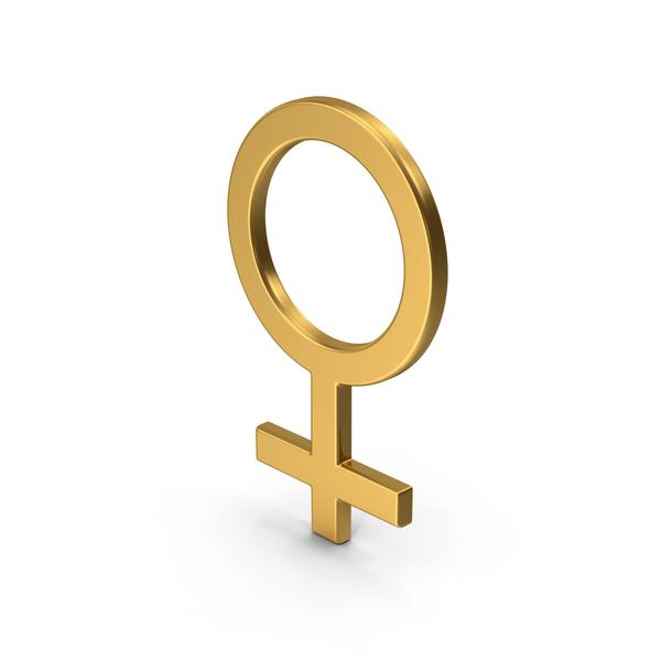 Symbol Female Gold PNG & PSD Images