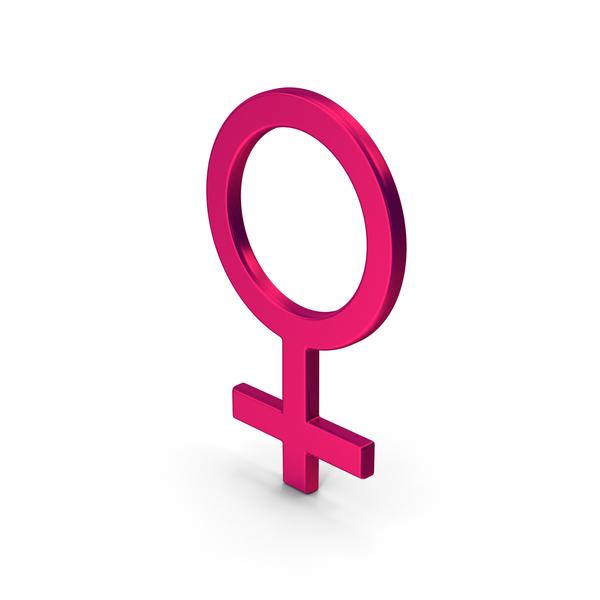 Symbol Female Metallic PNG & PSD Images
