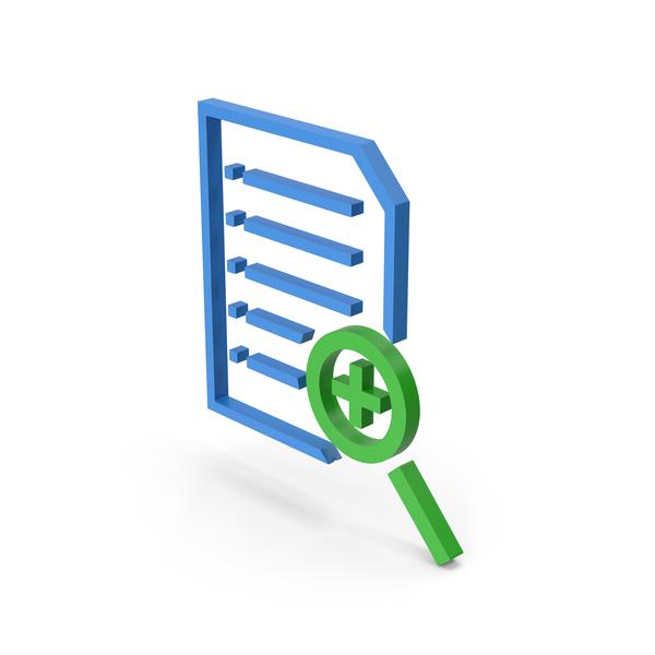 Symbol File Zoom Blue Green PNG & PSD Images