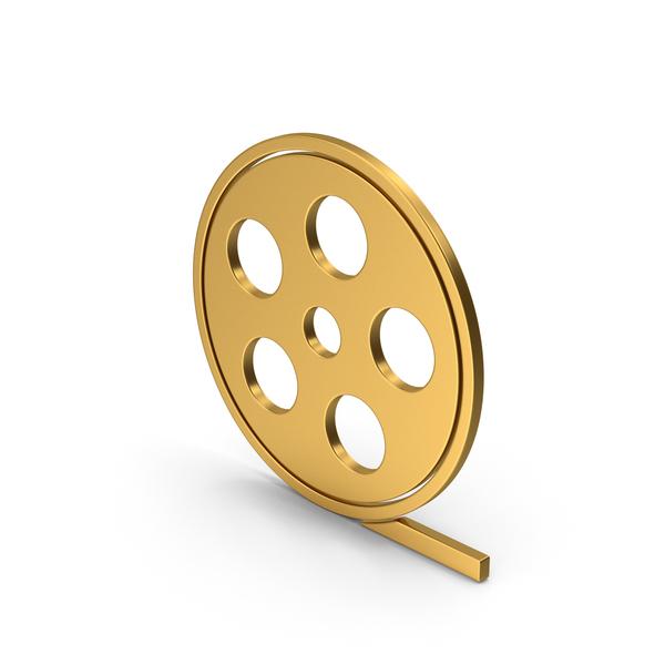 Reel: Symbol Film Roll Gold PNG & PSD Images