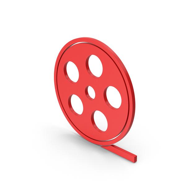 Reel: Symbol Film Roll Red PNG & PSD Images