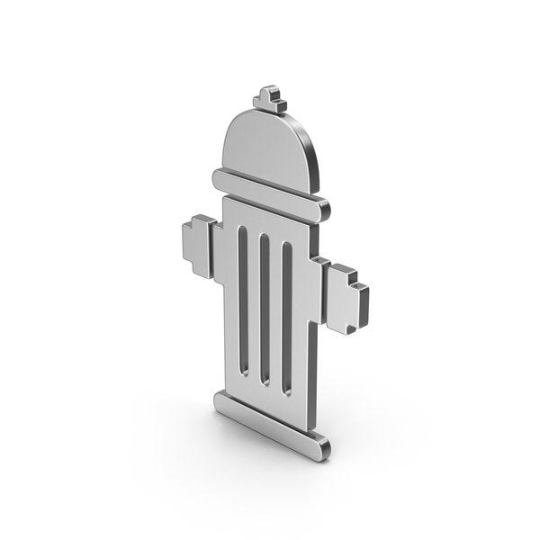 Industrial Equipment: Symbol Fire Hydrant Silver PNG & PSD Images