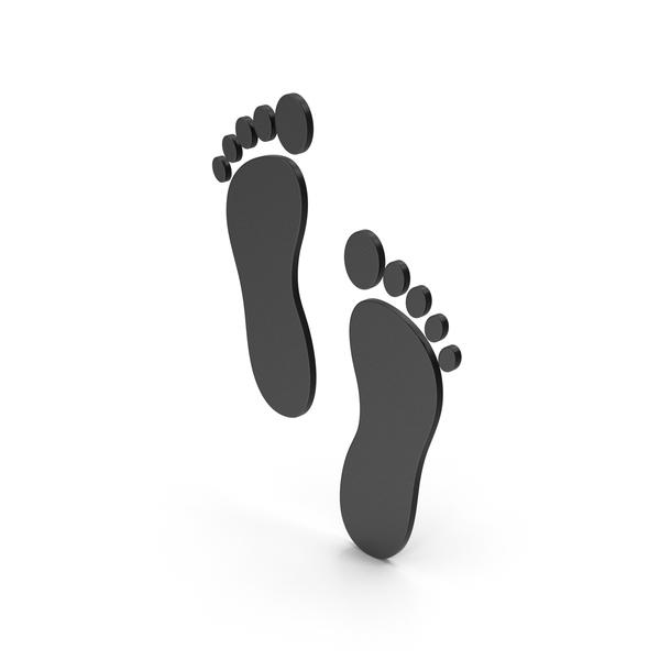 Ornamental Grass: Symbol Footprint Black PNG & PSD Images