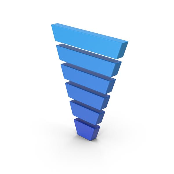 Symbols: Symbol Funnel Chart Blue PNG & PSD Images