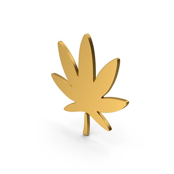 Computer Icon: Symbol Ganja Gold PNG & PSD Images