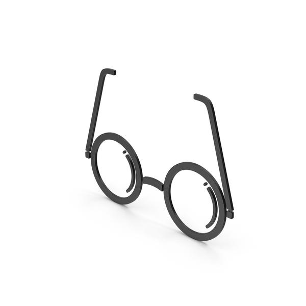 Logo: Symbol Glasses Black PNG & PSD Images