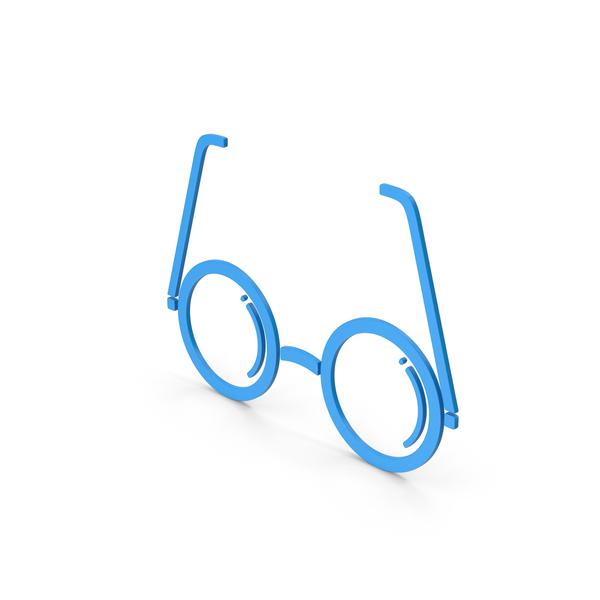 Logo: Symbol Glasses Blue PNG & PSD Images