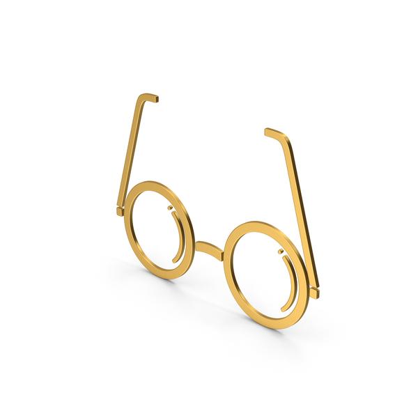Logo: Symbol Glasses Gold PNG & PSD Images