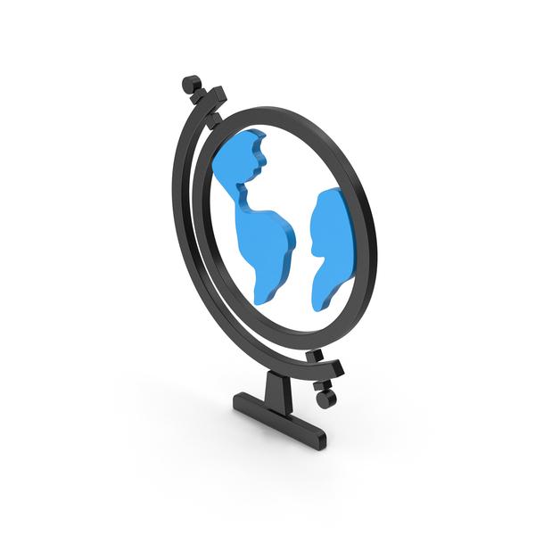 Logo: Symbol Globe Blue PNG & PSD Images