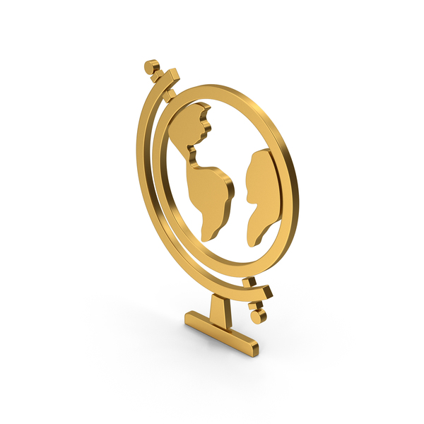 Logo: Symbol Globe Gold PNG & PSD Images