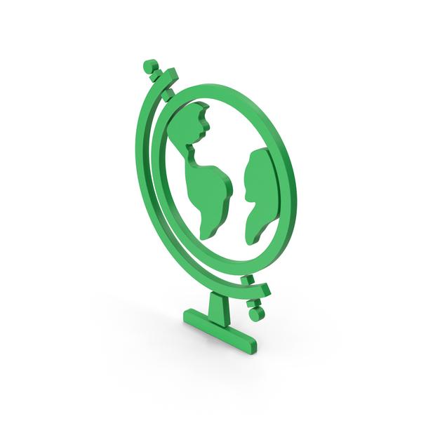 Logo: Symbol Globe Green PNG & PSD Images