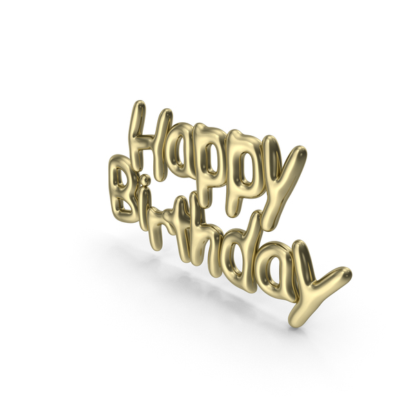 Symbol Gold Happy Birthday PNG & PSD Images
