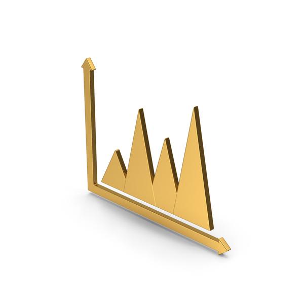 Pie: Symbol Graph Chart Gold PNG & PSD Images
