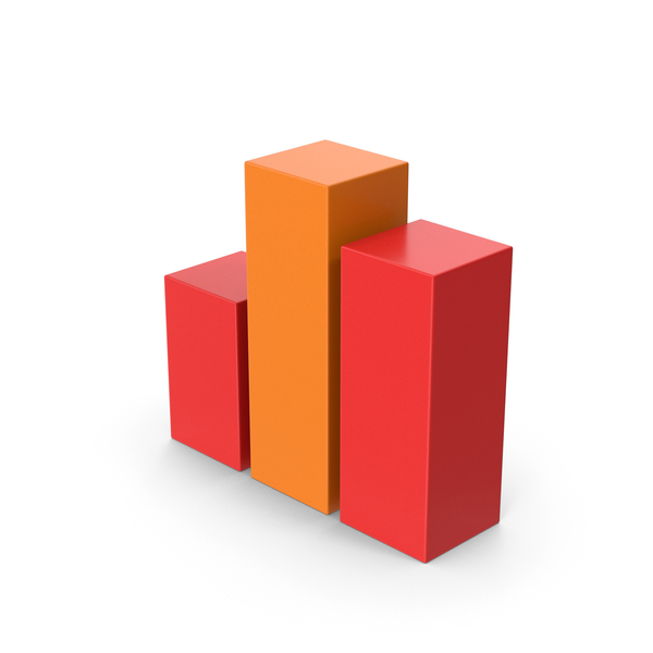 Line Chart: Symbol Graph Cube Red Orange PNG & PSD Images