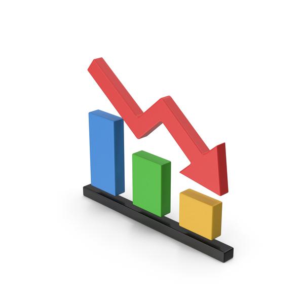 Line Chart: Symbol Graph Down PNG & PSD Images